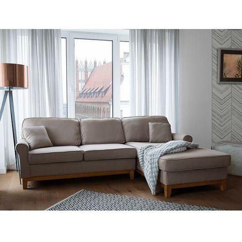 Beliani Narożnik jasnobrązowy - kanapa - sofa - narożna - wypoczynek - nexo (7105272765572)