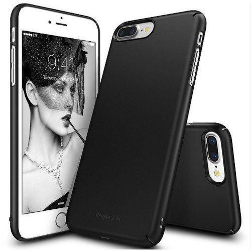 Zestaw | rearth ringke slim black | obudowa + szkło ochronne perfect glass dla modelu apple iphone 7 plus marki Rearth / perfect glass