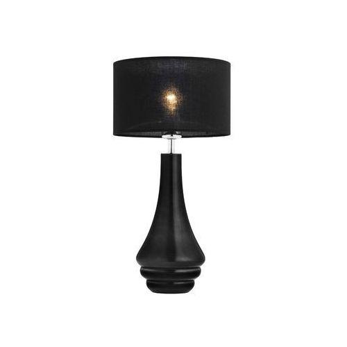 Argon Lampa stołowa amazonka 3033 lampka z abażurem 1x60w e27 czarna (5908259944623)