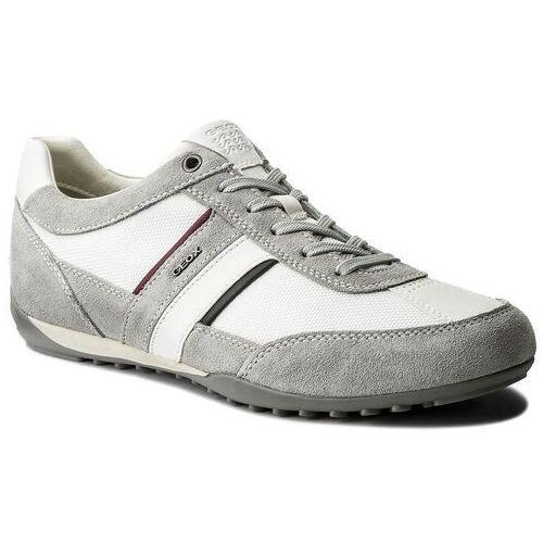 Sneakersy GEOX - U Wells C U52T5C 02211 C1303 Lt Grey/White, kolor szary