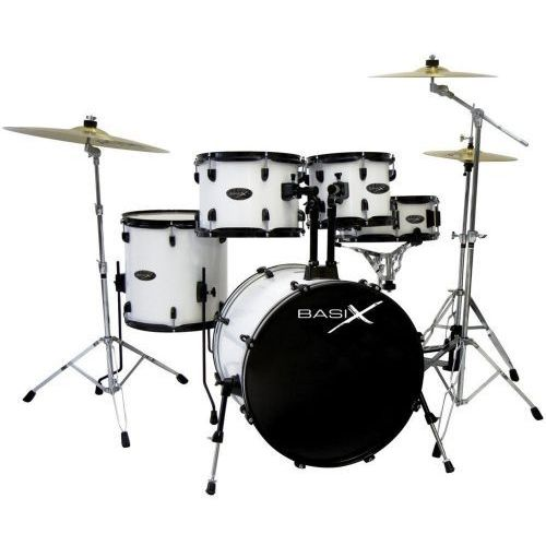 (ps800151) drumset basix classic czarne chromowane hardware marki Drumcraft