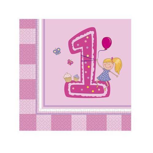 Serwetki na roczek dla dziewczynki - 33 cm - 20 szt.
