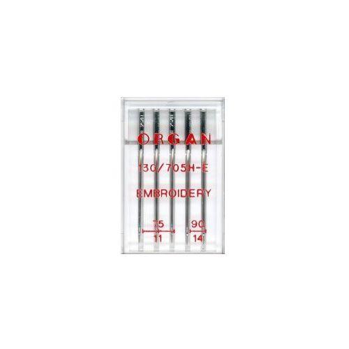 Igły półpłaskie Organ 130/705H-E do haftu mix 75-90