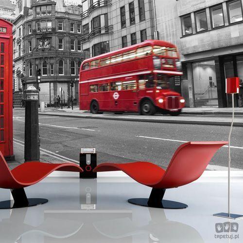 Fototapeta Londyn: czerwony autobus i budka telefoniczna 100404-6, 100404-6