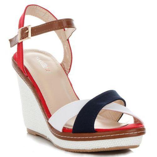 f9fed6f7713f3 Unikatowe buty damskie na koturnie renomowanej marki multikolorowe czerwone  (kolory), Marquiz 95,00 zł popularne koturny damskie uwielbianej firmy  Marquiz.