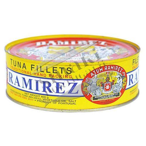 Portugalskie filety z tuńczyka w oleju roślinnym Ramirez 800g