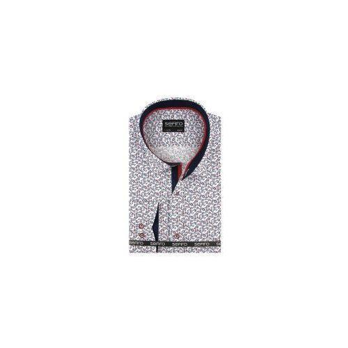 a99b72e0f Duża Koszula Męska Sefiro biała w kwiatki na spinki lub guzik duże rozmiary  A124 78,00 zł Oddajemy w Państwa ręce wysokiej klasy koszulę męską  producenta ...