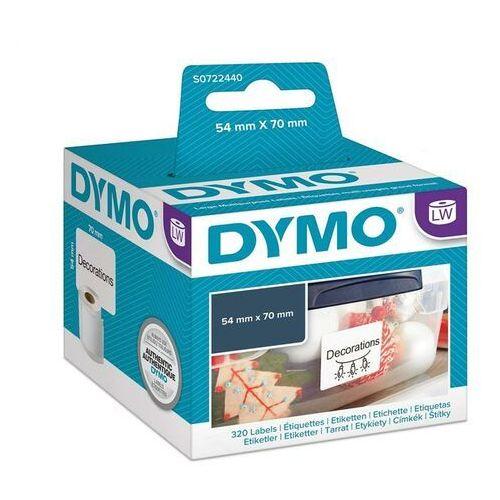 large multipurpose labels czarny, biały 320szt. samoprzylepne etykiety marki Dymo