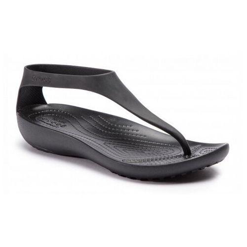 Sandały damskie japonki sexi flip czarne marki Crocs