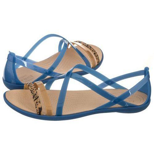 Sandały Crocs Isabella Grph Strappy Sandal Blue Jean/Gold 205084-4HT (CR146-a)