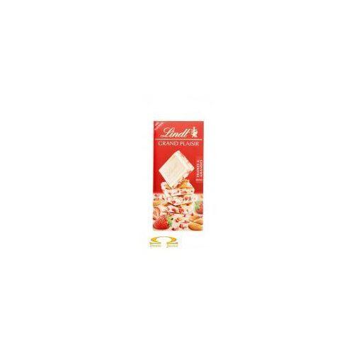 Czekolada grand plaisir biała z kawałkami migdałów i truskawkami 150g marki Lindt