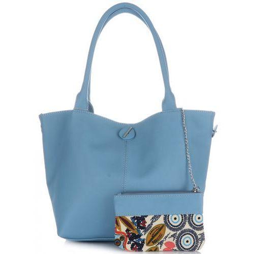 27ad631810d86 David jones Modne dwustronne torby damskie ze skóry ekologicznej firmy  błękitne (kolory) 79,00 zł Uniwersalne i gustowna torebka żeńska to  propozycja od ...