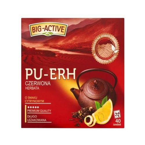 Big active 40x1,8g pu-erh herbata czerwona o smaku cytrynowym (40 saszetek) marki Big-active