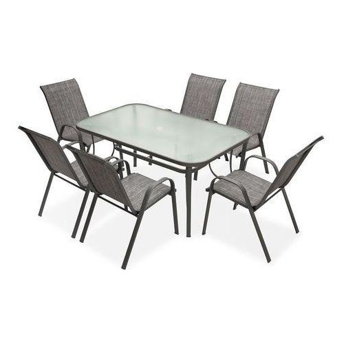 Ogrodosfera.pl Meble stołowe do ogrodu modena szary dla 6 osób garden point