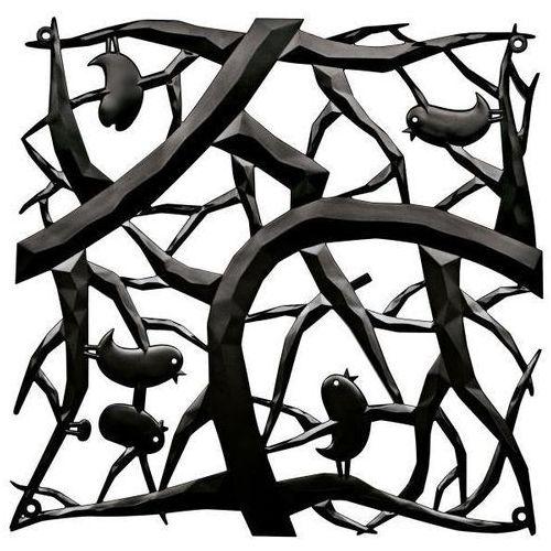 Panel dekoracyjny pi:p - 4 sztuki w komplecie - kolor czarny, marki Koziol
