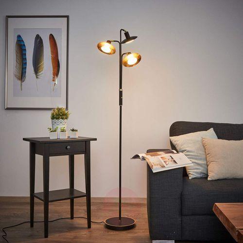 3-punktowa lampa stojąca LED, czarno-złoty