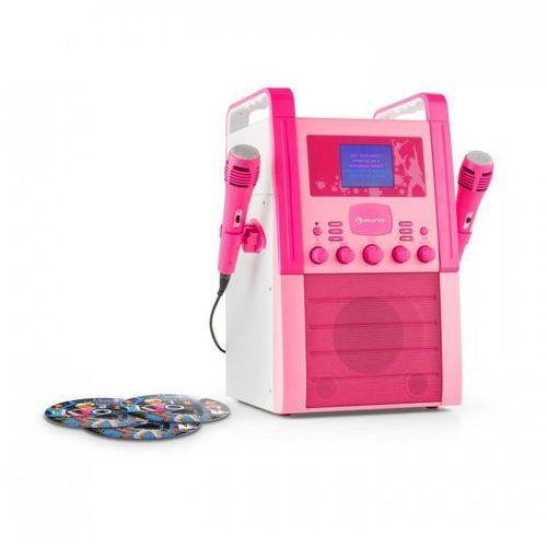 Ka8p-v2 bk zestaw karaoke odtwarzacz cd aux 2 x mikrofon3 cd + g do karaoke marki Auna