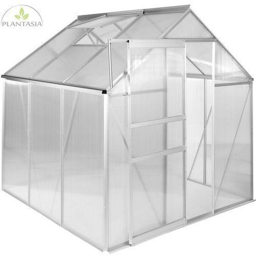 Plantasia ® Szklarnia ogrodowa aluminiowa 190x190x195cm 6mm (30060335)