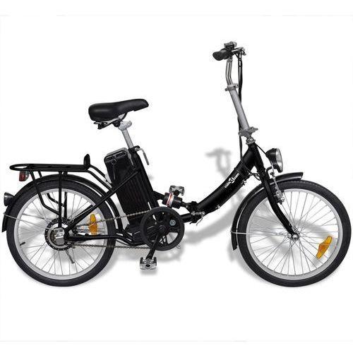 Vidaxl rower elektryczny składany z akumulatorem litowo-jonowym aluminium (8718475914839)