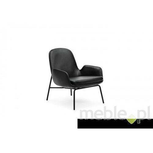Fotel Era Stalowy z Niskim Oparciem sørensen-tango leather Normann Copenhagen 602842