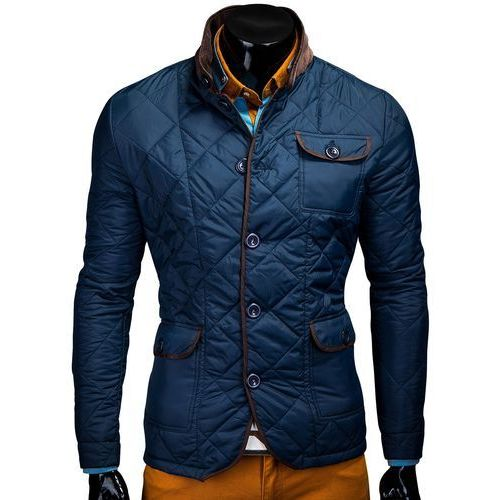 KURTKA MAXIMO - GRANATOWA (kurtka męska) od Ombre Clothing