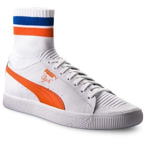 Sneakersy PUMA - Clyde Sock NYC 364948 04 Pwhite/Scarlet Ibis/Pwhite