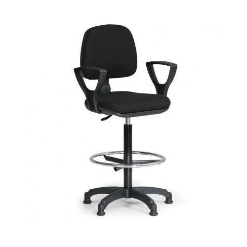 Podwyższone krzesło MILANO z podłokietnikami - czarne