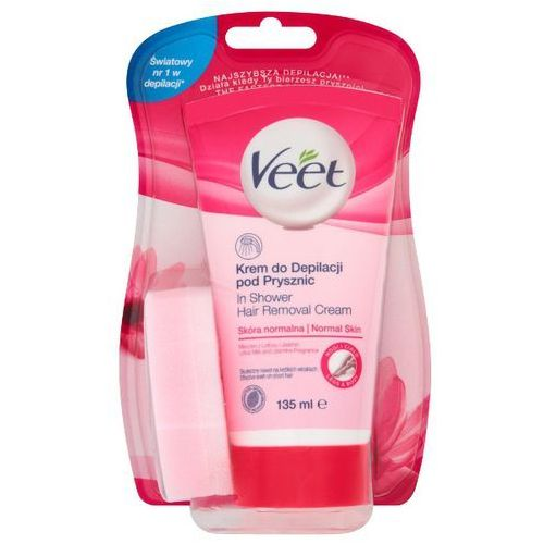 VEET 135ml Krem do depilacji pod prysznic skóra normalna + gąbka, Reckitt Benckiser