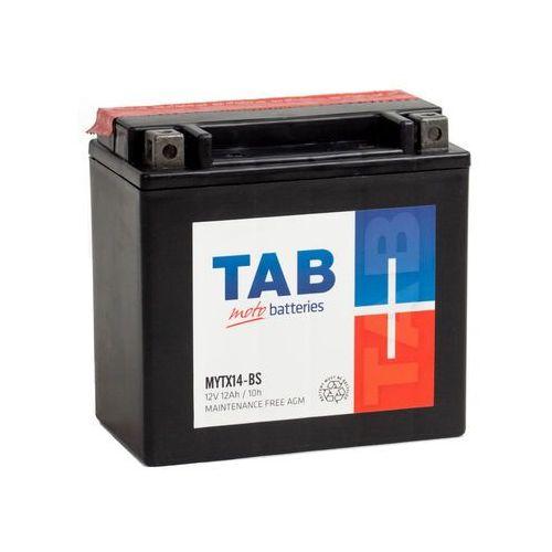 Akumulator motocyklowy TAB YTX14-BS (MYTX14-BS) 12V 12Ah 160A L+