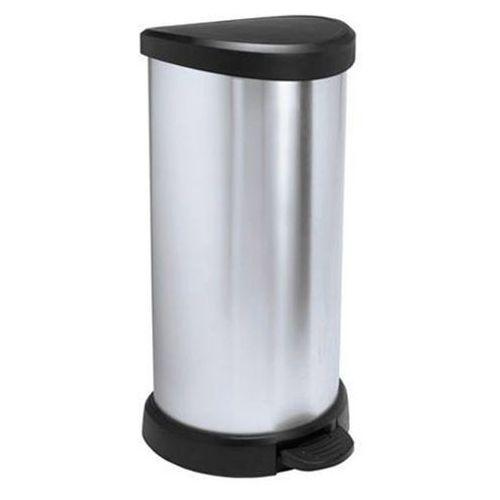 Kosz na śmieci metalizowany z pedałem 40l - produkt dostępny w OLE.PL Profesjonalne Rozwiązania Higieniczne