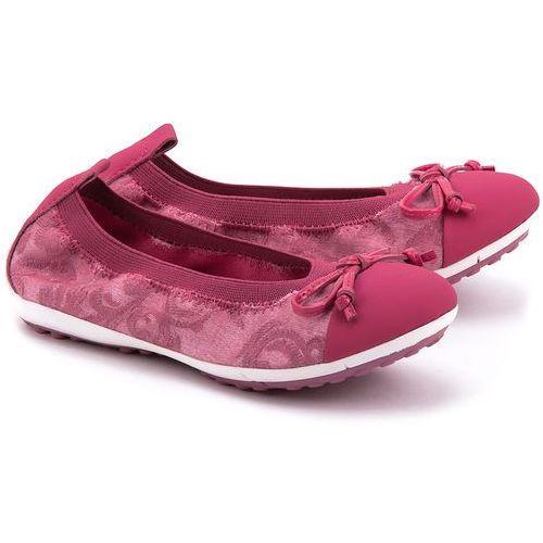 GEOX Junior Piuma Bal. - Fuksjowe Canvasowe Baleriny Dziecięce - J42B0D 011BC C8002 od MIVO Shoes Shop On-line