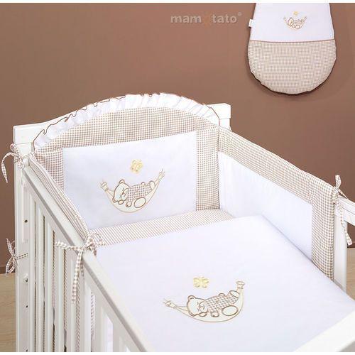 MAMO-TATO pościel 3-el Śpioch w hamaku brąz z białym do łóżeczka 60x120cm