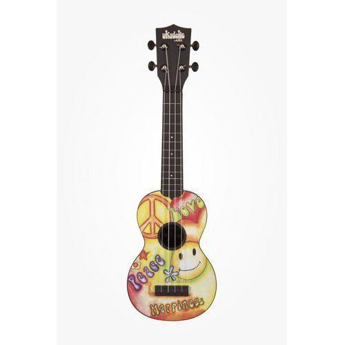 ukadelic soprano peacelove, ukulele sopranowe z pokrowcem marki Kala