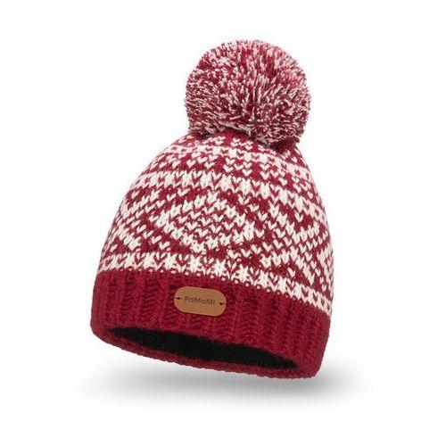 Zimowa czapka z polarem - bordowy marki Pamami