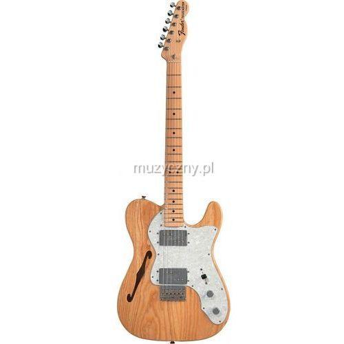 Fender 72 Telecaster Thinline gitara elektryczna z pokrowcem, podstrunnica klonowa