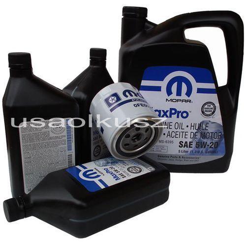 Oryginalny filtr oraz olej 5w20 chrysler 300c 5,7 hemi -2008 marki Mopar