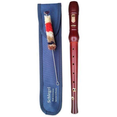 203-3 flet prosty sopranowy, palcowanie barokowe, strój c + pokrowiec marki Schlegel