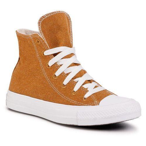 Trampki CONVERSE - Ctas Hi 166740C Wheat/Natural/White, kolor brązowy