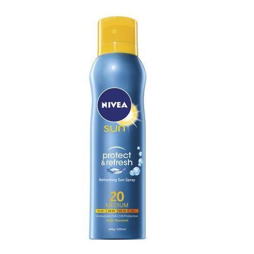 NIVEA 200ml Sun Protect & Refresh Chłodząca mgiełka do opalania w sprayu SPF 20