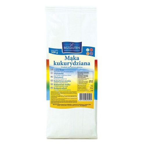 Mąka kukurydziana 500g bezglutenowa bezgluten marki Bezgluten s.c. (produkty bezglutenowe)
