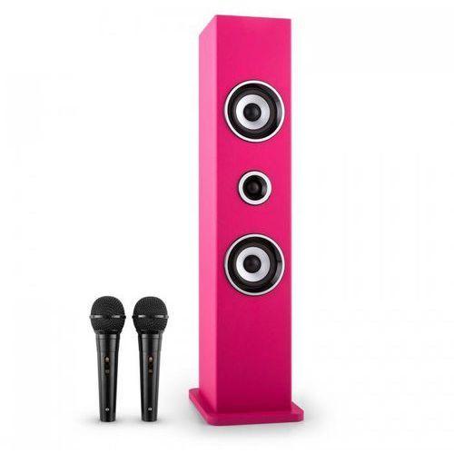 Karaboom Głośnik Bluetooth Zestaw karaoke 2 mikrofony różowy