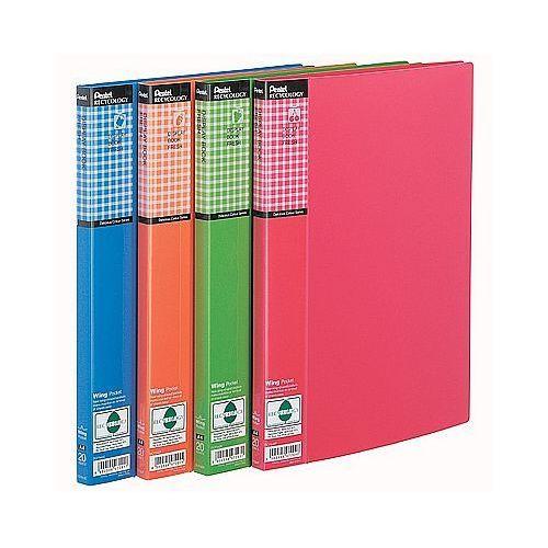 Album ofertowy a4 20 kieszeni pentel wing fresh dcf542p różowy marki Recycology