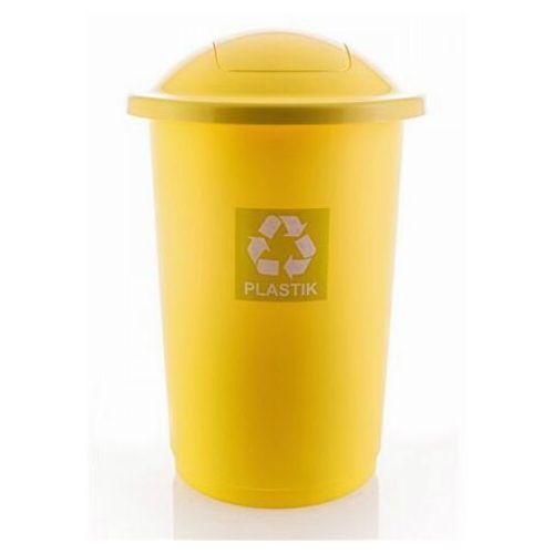 Kosz na śmieci Pojemnik do segregacji TOP BIN 50L Yellow - produkt dostępny w twojekosze.pl