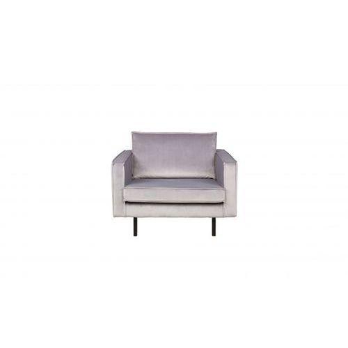 Be Pure Fotel RODEO aksamitny jasnoszary 149 800541-L (8714713056712)