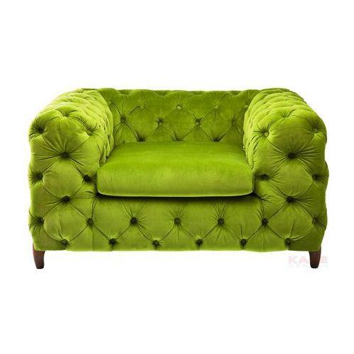 Desire Fotel Tkanina Aksamit Zielony 128x105x72cm - 78472, marki Kare Design do zakupu w sfmeble.pl