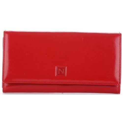 Nicole Duży portfel damski skórzany czerwony