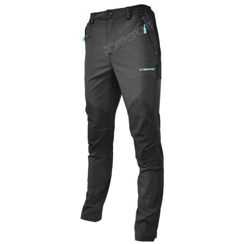 Spodnie trekkingowe alaska man czarny / niebieski xl marki Viking