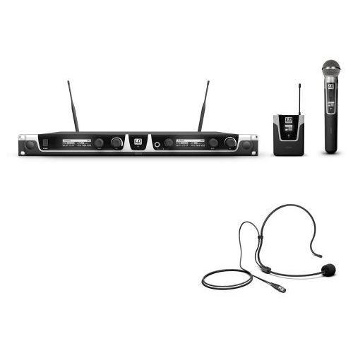 Ld systems u505 hbh2 mikrofon bezprzewodowy podójny, nadajnik doręczny i nagłowny