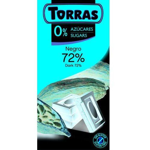 Czekolada Gorzka 72% Kakao bez cukru 75 g Torras
