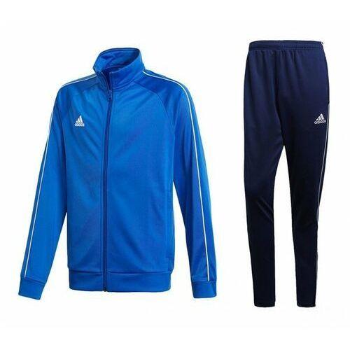 Adidas Dres męski core 18 bluza / spodnie cv3564 / cv3988 - niebiesko-granatowy